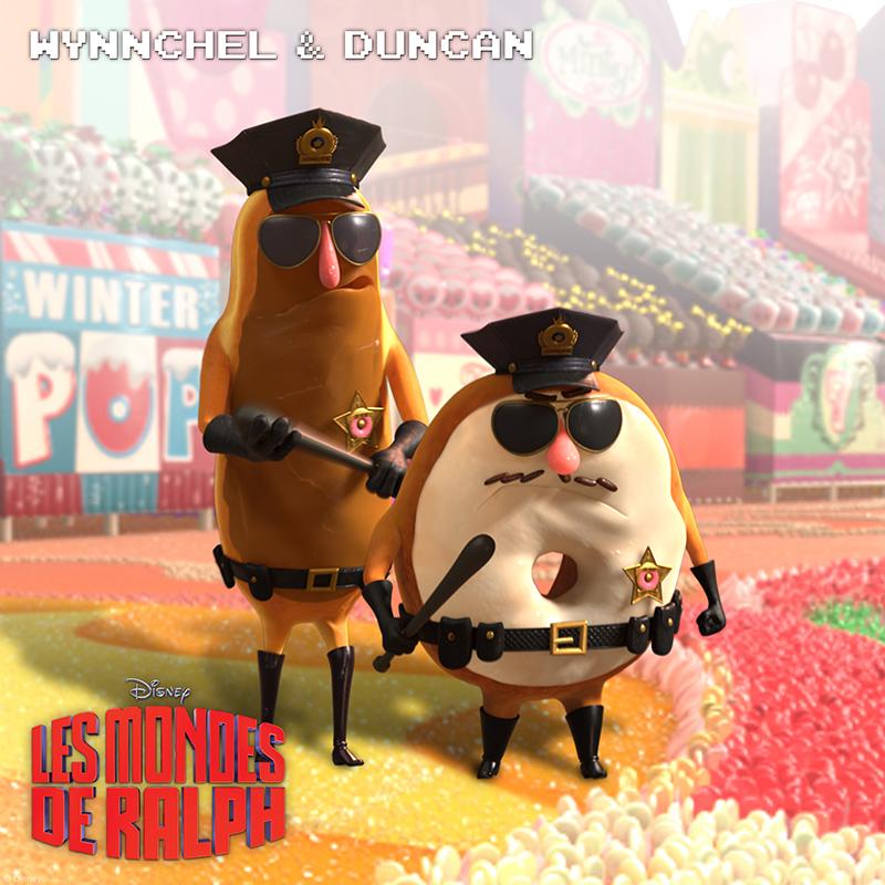 Wynnchel et Duncan Les Mondes de Ralph Movie Disney