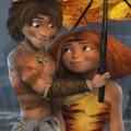 Les Croods - photo Eep et Guy