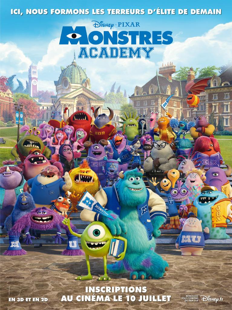 Affiche Monstres Academy Inscriptions