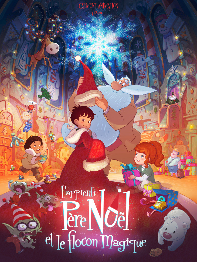 L'Apprenti Père Noël et le flocon magique - Affiche
