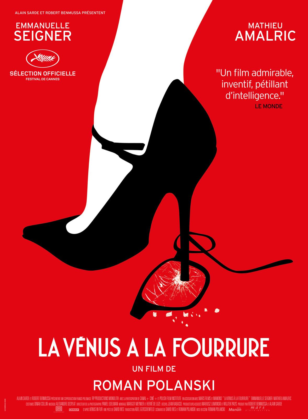 La Vénus à la Fourrure Roman Polanski Affiche