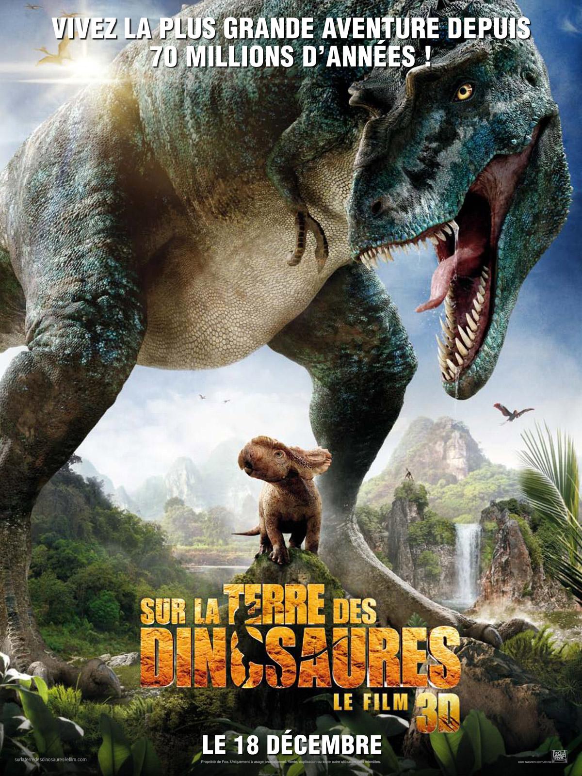 Sur la terre des dinosaures, le film 3D - Affiche