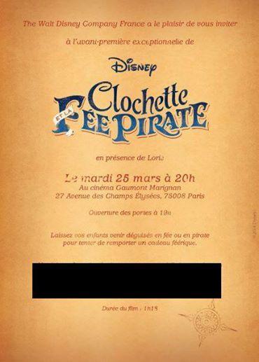 Event Fée Clochette Pirate 25 mars 2014