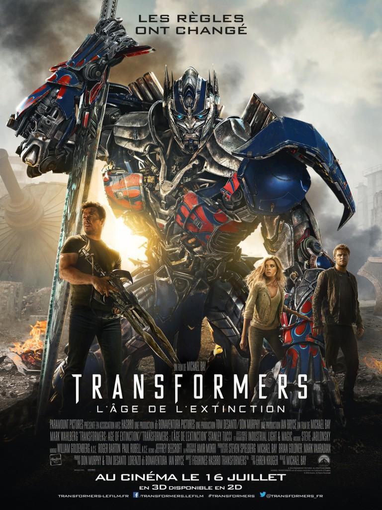 Transformers - l'âge de l'extinction - Affiche- Michael Bay
