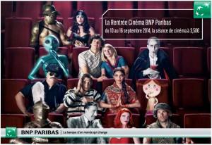BNP Paribas Rentrée Cinéma Septembre 2014