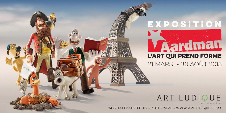 Exposition Aardman Art Ludique