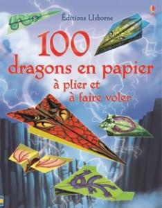 100 dragons en papier à plier et à faire voler aux éditions Usborne